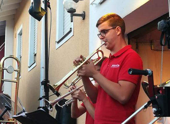 Florian an der Trompete