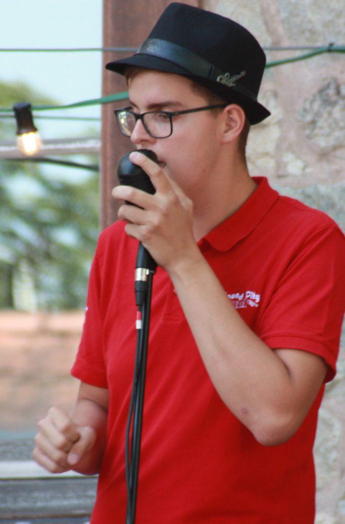 Florian am Mikrofon