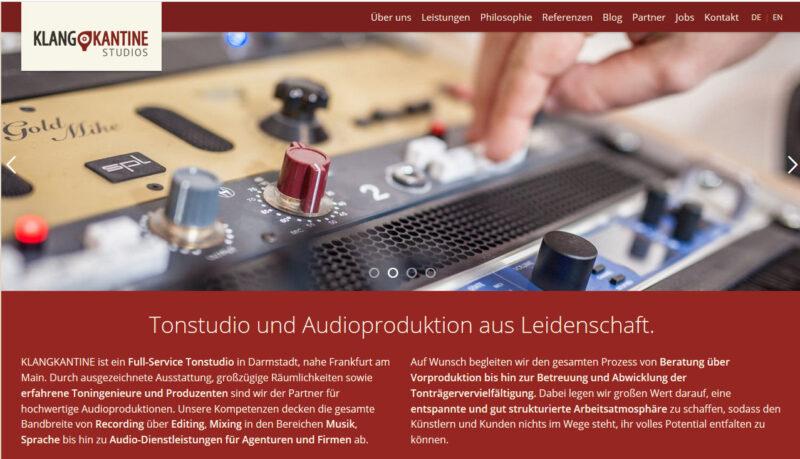 Tonstudio Klangkantine Darmstadt